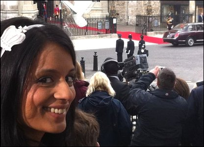Sonali at Westminster Abbey