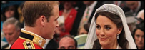Prince William and Kate Middleton at the altar. Photograph copyright Reuters