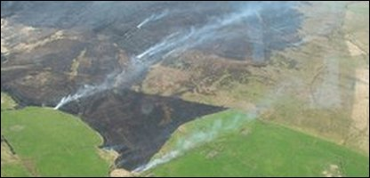 Fires broke out on Anglezarke Moor and Wheeton Moor in Lancashire on Friday