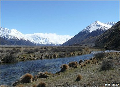 Godley Valley in New Zealand