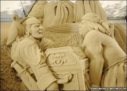 Pirate sand sculpture