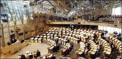 Interior of the Scottish Parliament