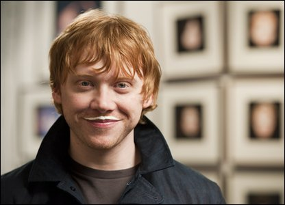 Rupert Grint who plays Ron Weasley in Harry Potter