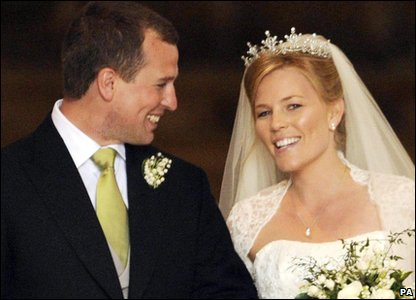 Peter Phillips with his wife Autumn. Their daughter Savannah Phillips (born 2010) is twelfth in line.