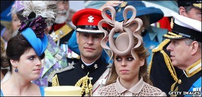 Princess Beatrice in her unusual hat