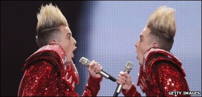 Jedward at the Eurovision semi finals