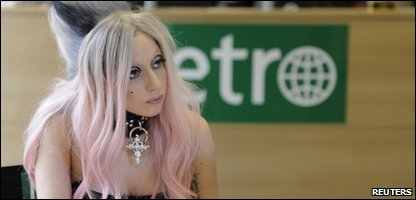 Lady Gaga at a newspaper's HQ