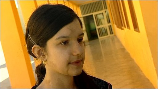 School girl living in Lampedusa.