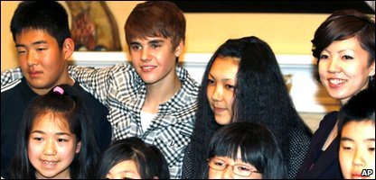 Justin Bieber visiting quake victims in Japan