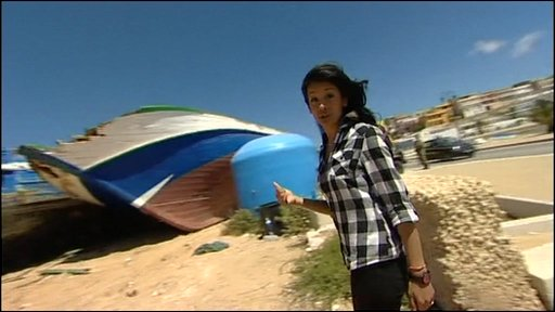 Sonali at Lampedusa