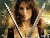 Penelope Cruz as Angelica in Pirates of the Caribbean On Stranger Tides