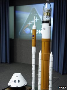 Models of the Orion and Ares crew exploration vehicles from 2006