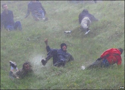 Cheese rolling competition