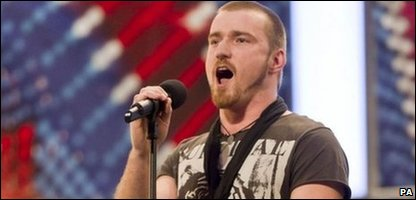 Jai McDowall at the auditions for Britain's Got Talent