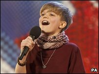 Ronan Parke at the auditions