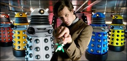 Dr Who: Matt Smith and Daleks