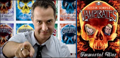 Justin Somper and his latest book, Immortal War
