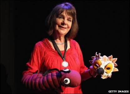 Gruffalo author Julia Donaldson with puppets