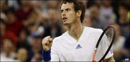 Andy Murray after beating Daniel Gimeno-Traver in his first round match at Wimbledon