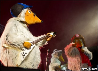 The Wombles perform at Glastonbury