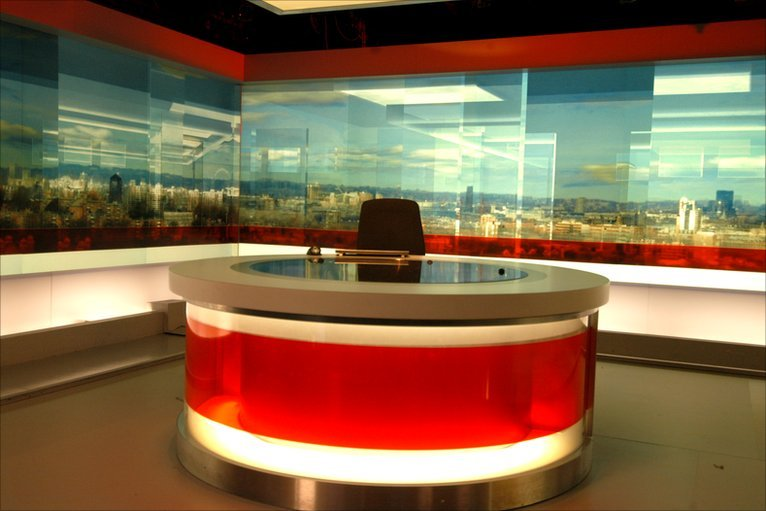 BBC News - In pictures: Virtual BBC newsroom