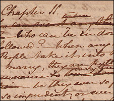 Jane Austen's handwriting