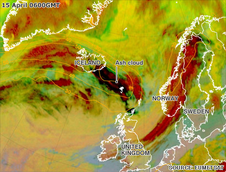 Iceland's volcanic ash cloud – airports closed in UK, Europe 1iceland volcano466