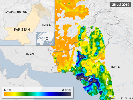 image showing flooding in Pakistan