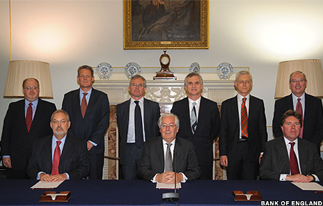 Image showing memebers of the Bank of England committee