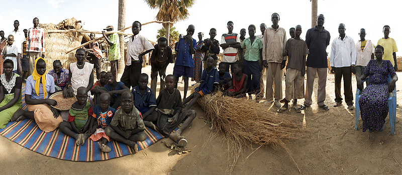 Village gathering in Mathiang Dit, Sudan