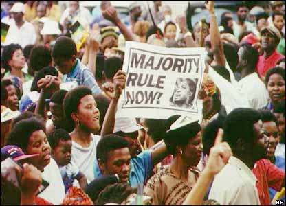 Pro-democracy rally, South Africa