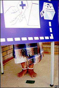 Polling booth, South Africa