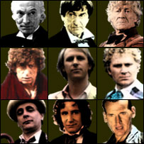 The different Dr Who characters