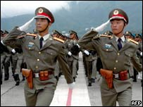 Parade of People's Liberation Army troops (archive picture)