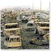 Hedges witnessed the Highway of Death in Iraq, 1991 (BBC photo)