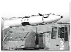 Photo of Iraqi Ababil-100 missile, from British government's dossier of evidence
