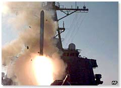 A cruise missile is launched during Operation Desert Fox