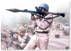 Iraqi soldier during Iran-Iraq war