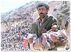 Kurdish refugees who fled northern Iraq after the uprising was put down