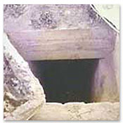 The entrance to the hole where Saddam Hussein was hiding