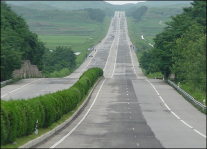 Highway in N.Korea