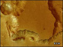 ESA mars Express image of the surface of Mars