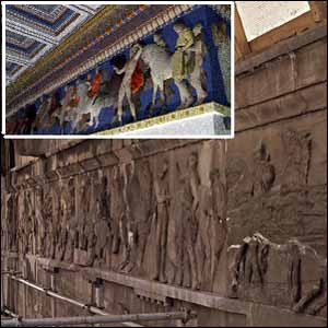 bbc news in pictures cleaning the parthenon frieze