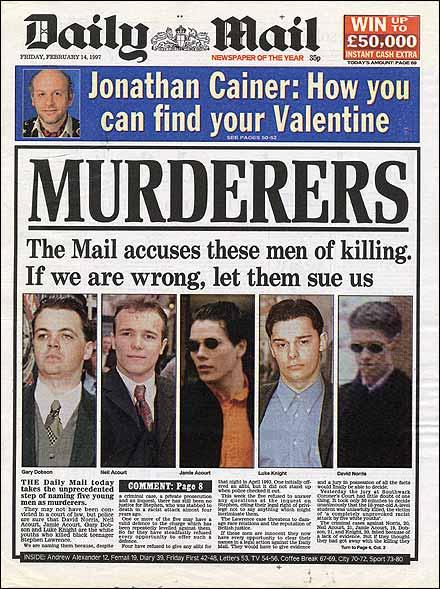 Stephen Lawrence's Killers