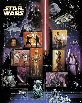 Star Wars stamps poster