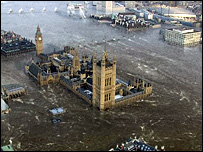 London under water