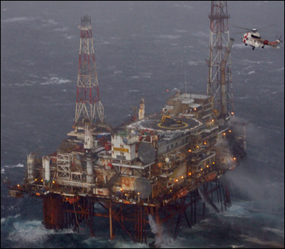 BBC News Oil Platform fire