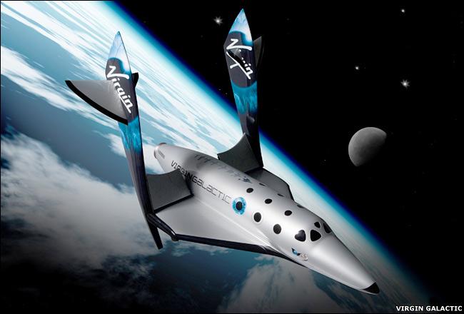 Umjetnička vizija SpaceShipTwo u svemiru