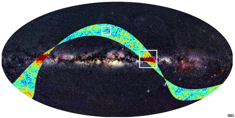 The European telescope sent far from Earth to study the oldest light in the Universe has returned its first images.