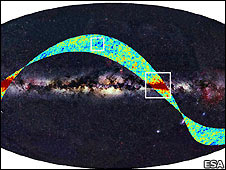 Planck telescope's first glimpse